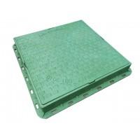 Люк каналізаційний квадратний 1,5т зелений