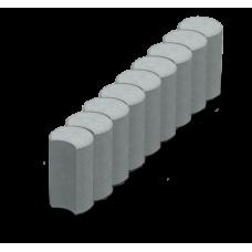 Поребрик фігурний круглий (L50 w8 h25 )