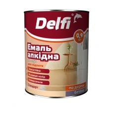 Фарба емальова  Delfi 0.9кг червоно-коричн