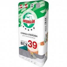 Суміш клейова для теплоізоляції ANSERGLOB BCX 39, 25кг