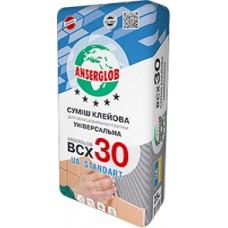 Суміш клейова для облицювання плитки  ANSERGLOB BCX 30, 25кг