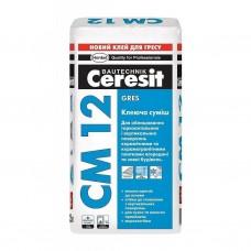 Клей для плитки та керамограніта СМ-12 25кг Церезіт