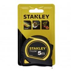"""Рулетка Stanley """"Tylon"""" 5м*25мм ергономічний корпус пластик+еластомер"""