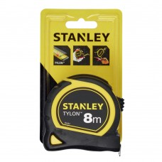 """Рулетка Stanley """"Tylon"""" 8м*25мм ергономічний корпус пластик+еластомер"""